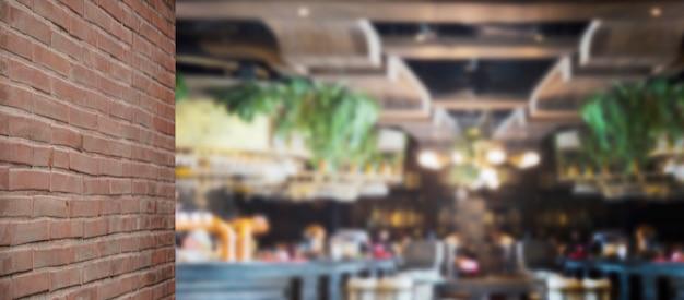 Unscharf hintergrund luxus restaurant für lebensmittelgeschäft Premium Fotos