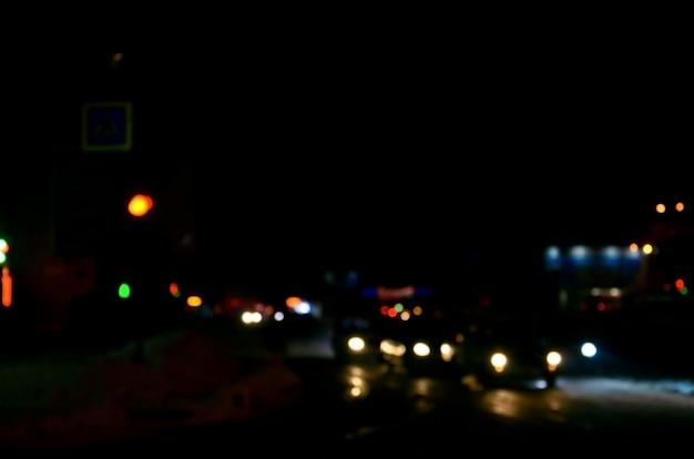 Unscharfe landschaft der nachtstadt Premium Fotos