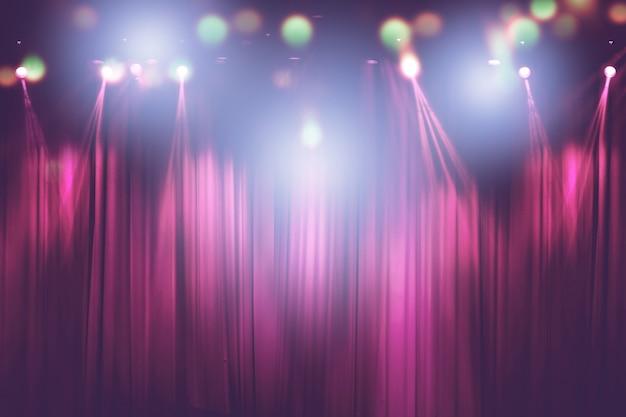 Unscharfe lichter auf stadium, abstraktes bild der konzertbeleuchtung Premium Fotos