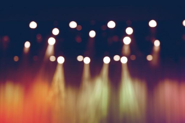Unscharfe lichter auf stadium, abstraktes bild des scheinwerferkonzerts. Premium Fotos