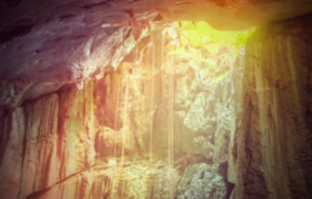 Unscharfe natur hintergründe - in einem komplexen krabi höhle, thailan Kostenlose Fotos