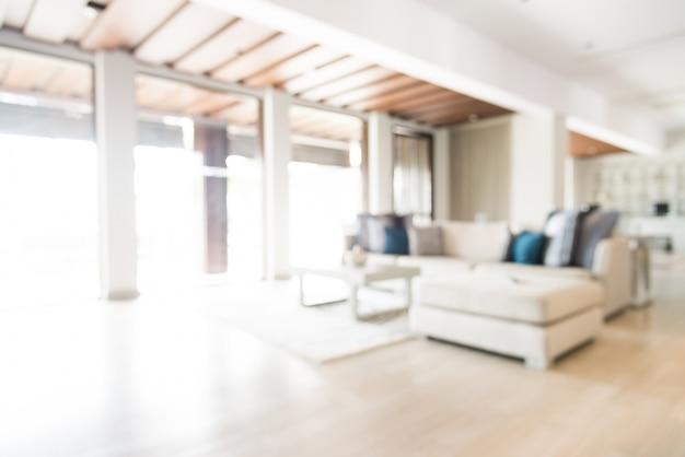 Unscharfe wohnzimmer mit parkettboden Kostenlose Fotos