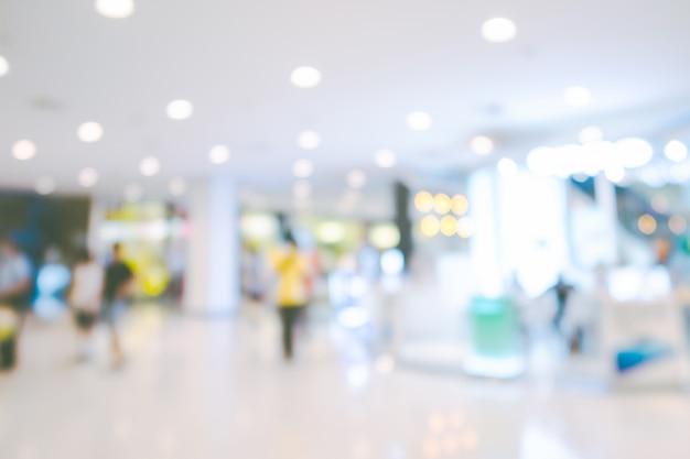 Unscharfer hintergrund des einkaufszentrums Premium Fotos
