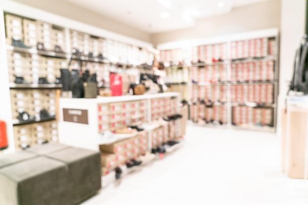 Unscharfes einzelhandelsgeschäft im einkaufszentrum Premium Fotos