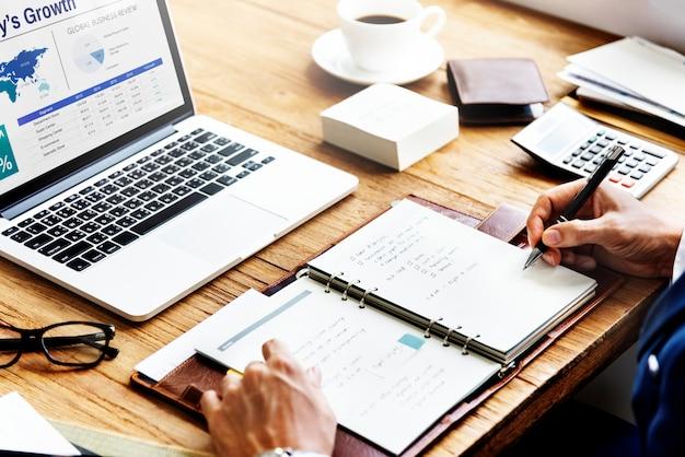 Unternehmensplan-strategie-wachstums-erfolgs-konzept Premium Fotos