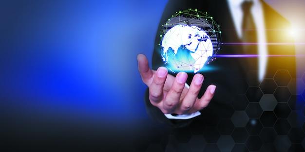 Unternehmer-netzwerk-technologie und kommunikation Premium Fotos