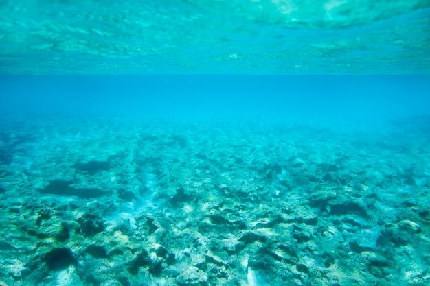 Unterwasserfelsen ibiza formenteras im türkismeer Premium Fotos