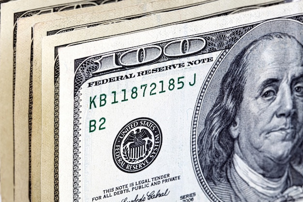 Us-dollar, ein hintergrund Premium Fotos