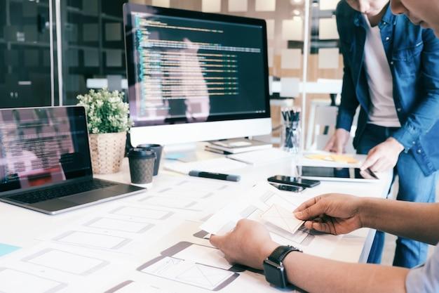 Ux ui und programmierung entwicklungstechnologie. Premium Fotos