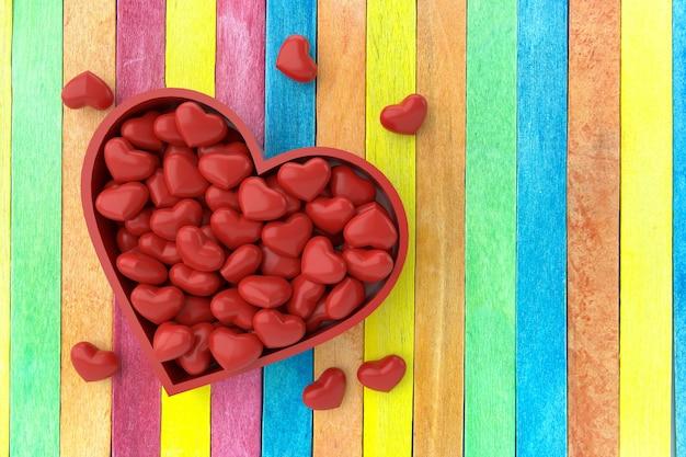 Valentinstag hintergrund. 3d-rendering. Premium Fotos