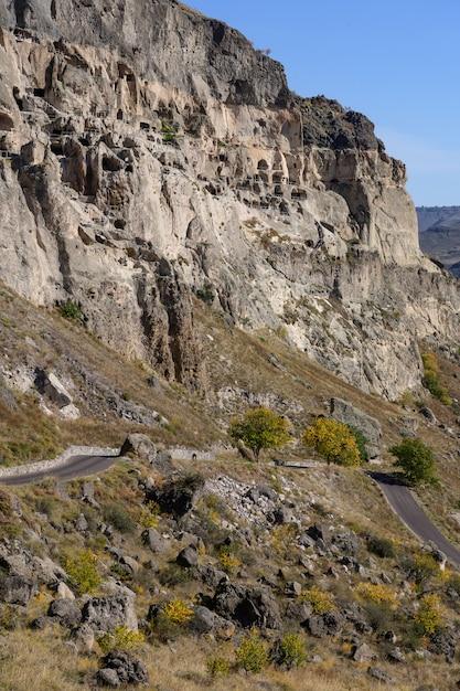 Vardzia-höhlenkloster, georgia Premium Fotos