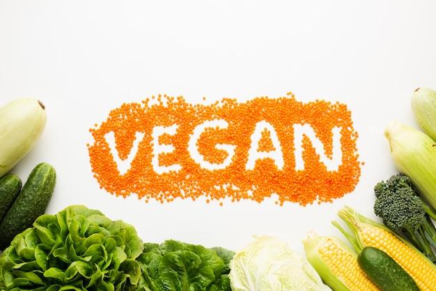 Vegane schrift auf weißem hintergrund Kostenlose Fotos