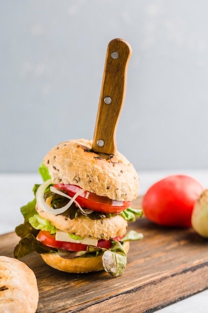 Veganer burger Premium Fotos