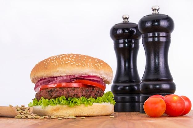 Veganer hamburger Premium Fotos