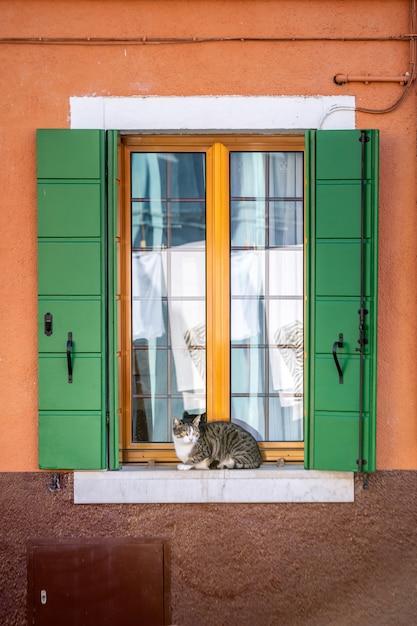 Venedig fenster und türen Premium Fotos