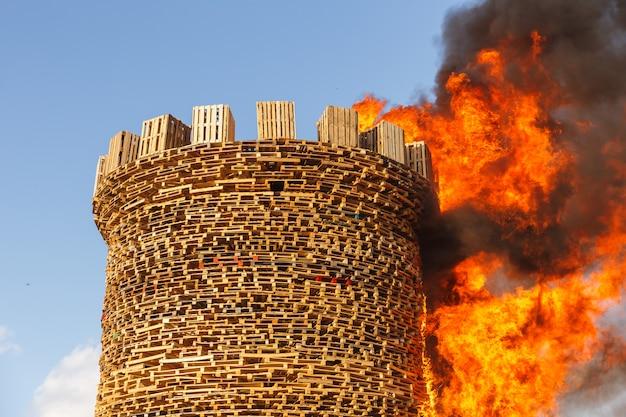 Verbrennung der festung der bastille. Premium Fotos