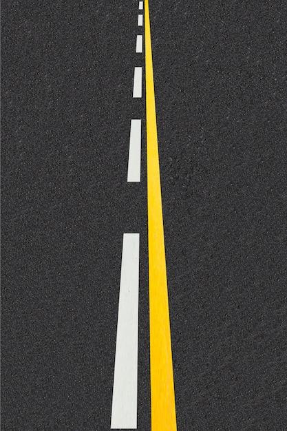 Verkehrslinien auf asphaltierten straßen hintergrund Kostenlose Fotos