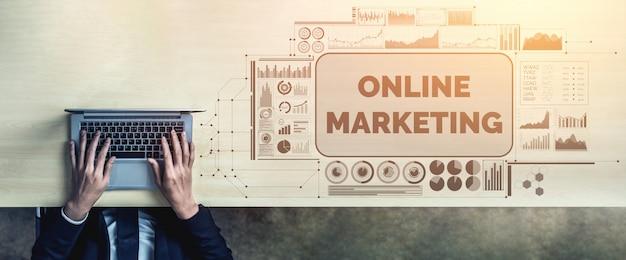 Vermarktung des geschäftskonzepts der digitalen technologie Premium Fotos
