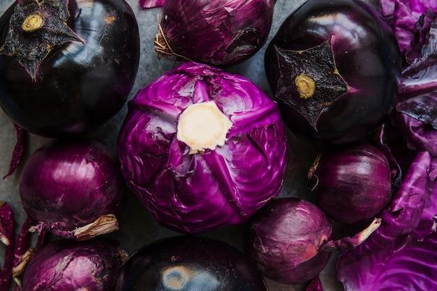 Verschiedene arten von gesundem gemüse Kostenlose Fotos
