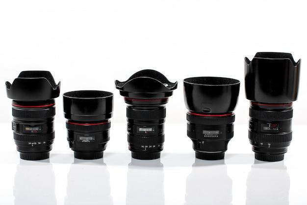 Verschiedene austauschbare kameraobjektive Kostenlose Fotos