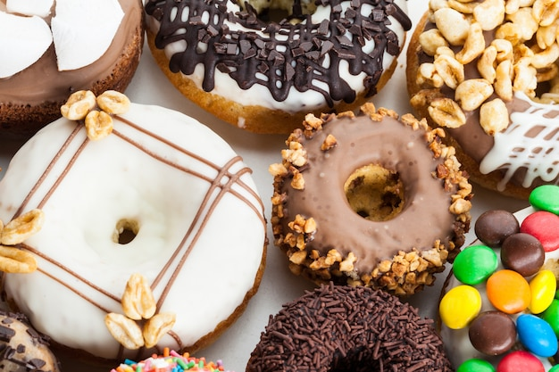 Verschiedene donuts Premium Fotos
