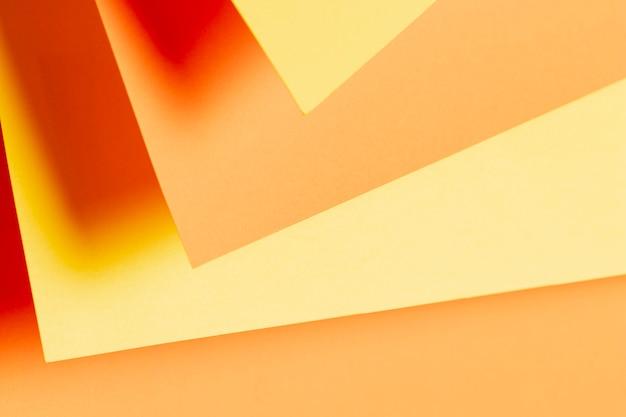 Verschiedene schattierungen von orangefarbenen papieren Kostenlose Fotos