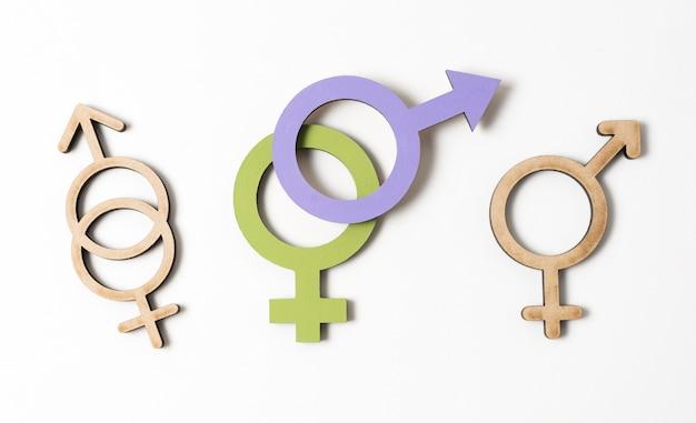 Verschiedenes weibliches und männliches geschlechtssymbolkonzept Kostenlose Fotos