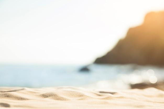 Verschwommene strand hintergrund Premium Fotos