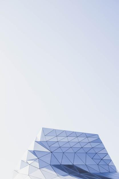 Vertikale aufnahme einer geometrischen struktur Kostenlose Fotos