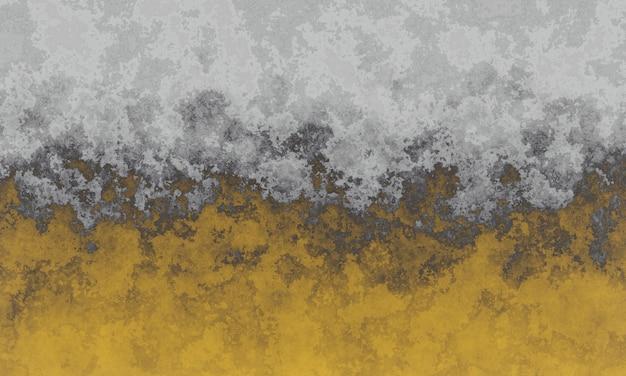 Verwitterte graue und gelbe zementwandbeschaffenheit 3d Premium Fotos