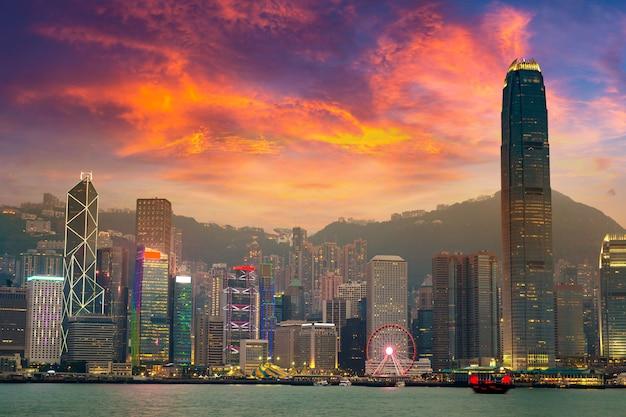 Victoria harbour in hongkong Premium Fotos