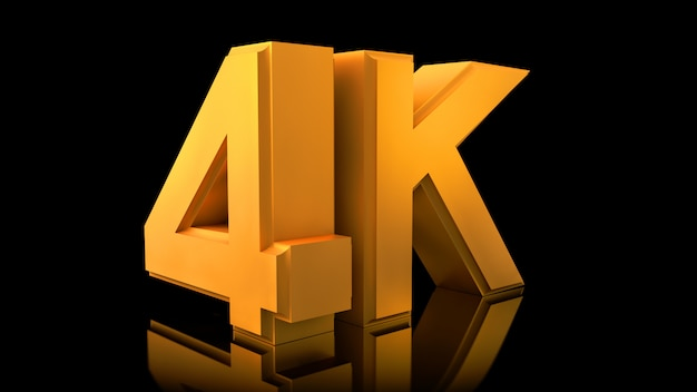 Video 4k-logo. Premium Fotos