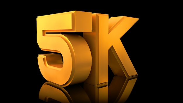 Video 5k-logo. Premium Fotos