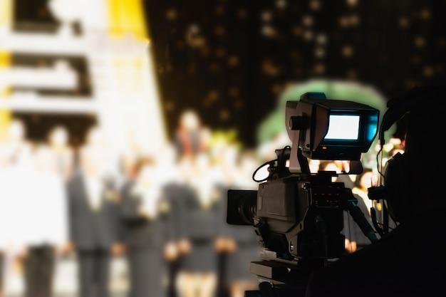 Videoaufnahmekamera im studio Premium Fotos