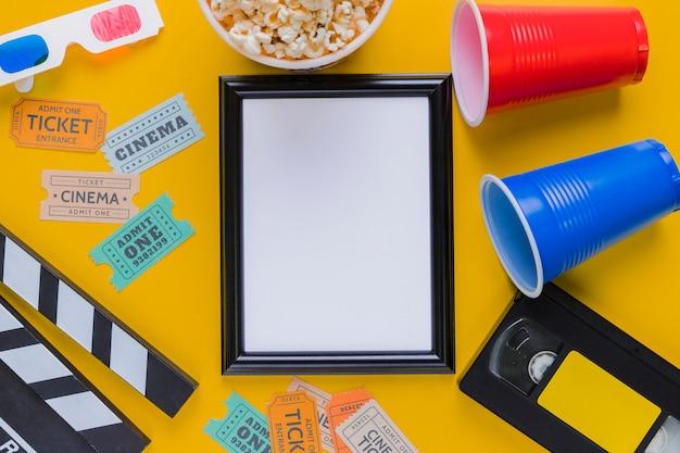 Videoband mit klappe und rahmen Kostenlose Fotos