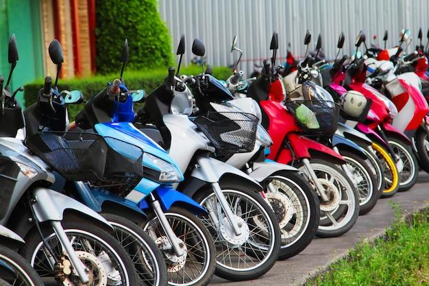 Viele motorräder Premium Fotos