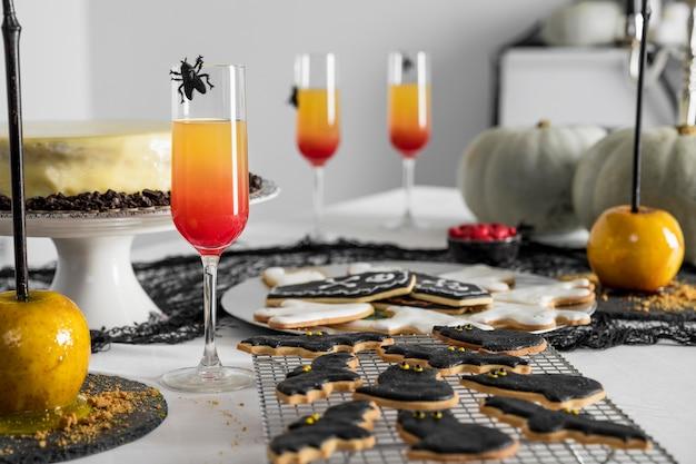 Vielzahl von leckereien für halloween Kostenlose Fotos