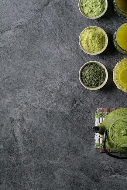 Vielzahl von matcha-tee Premium Fotos