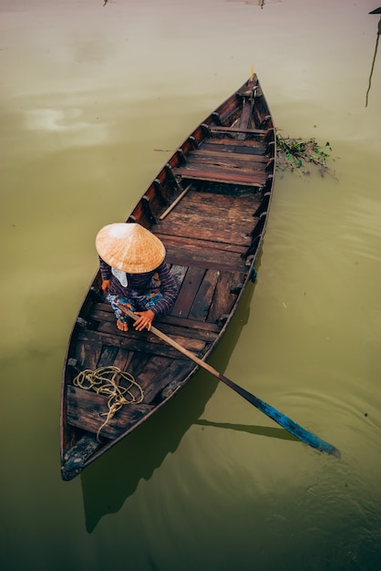 Vietnamesische boote in hoi an Premium Fotos