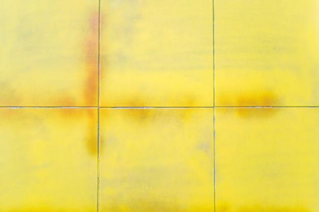 Vintage gelbe karierte textur. abstrakter geometrischer hintergrund. Kostenlose Fotos