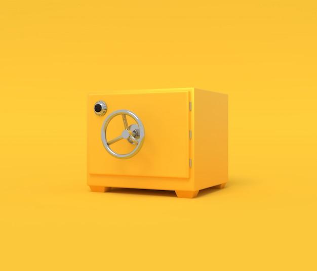 Vintage safe. illustration mit leerem platz für text. 3d-rendering Premium Fotos