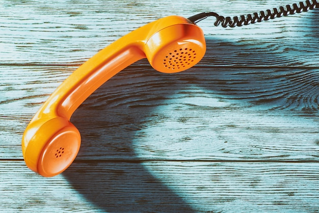 Vintage telefonhörer Premium Fotos