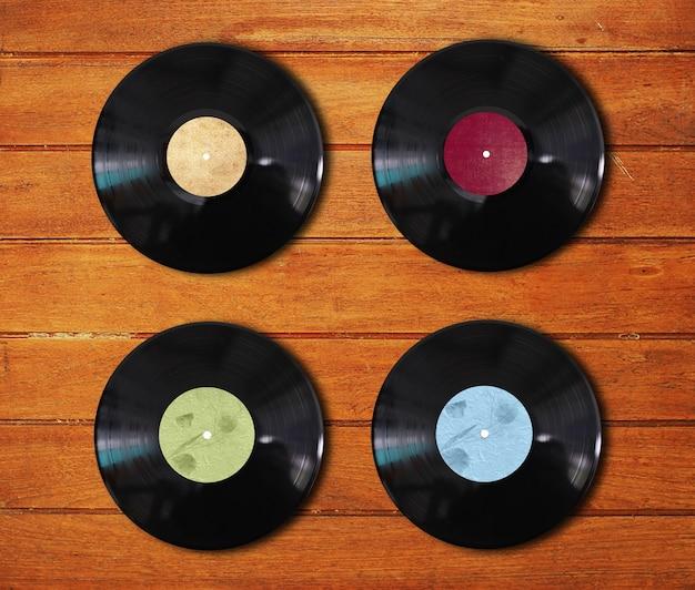 Vinyl-scheiben in verschiedenen farben Kostenlose Fotos