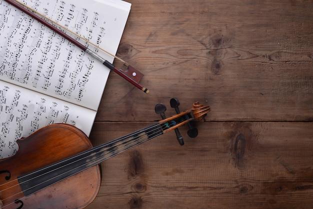Violine und ergebnis draufsicht Kostenlose Fotos