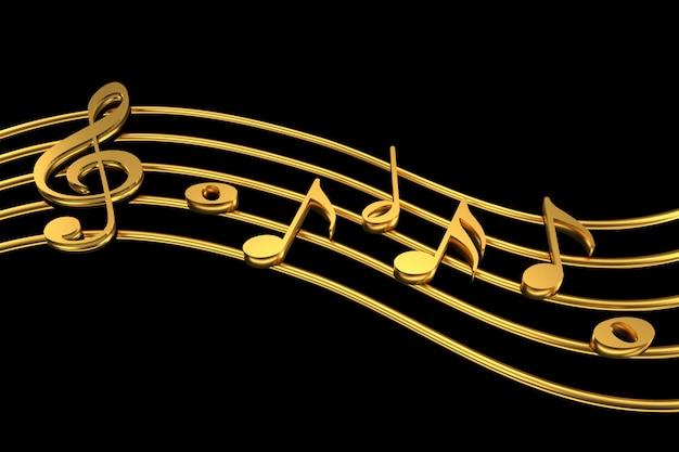 Violinschlüssel und notenschrift Premium Fotos