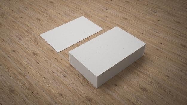 Visitenkarten verspotten design Premium Fotos