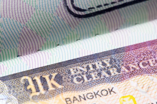 Visum großbritanniens vereinigtes königreich im pass Premium Fotos