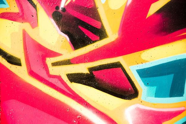 Voller rahmen des bunten gemalten wandhintergrundes Kostenlose Fotos