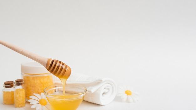 Vorderansicht des honigs und anderer badekurortwesensmerkmale Kostenlose Fotos