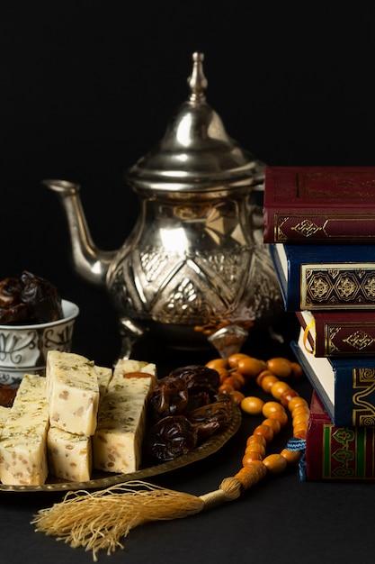 Vorderansicht islamisches neujahrskonzept Kostenlose Fotos